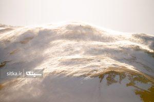 تابش خورشید بر برف